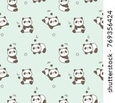 seamless pattern of cute... | Shutterstock .eps vector #769356424