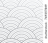 geometric silver circle lines... | Shutterstock .eps vector #769357849