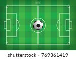 soccer football ball on green... | Shutterstock .eps vector #769361419