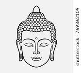 outline buddha head | Shutterstock .eps vector #769362109