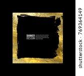 Square Golden Frame On A Black...