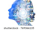 ai  artificial intelligence ... | Shutterstock . vector #769366135