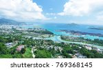 aerial view of mahe' coastline... | Shutterstock . vector #769368145