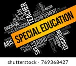 special education word cloud... | Shutterstock .eps vector #769368427