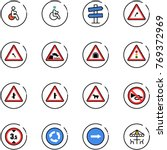 line vector icon set   disabled ... | Shutterstock .eps vector #769372969