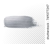 silver glitter paint brush... | Shutterstock .eps vector #769377247