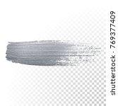 silver paint brush stain or... | Shutterstock .eps vector #769377409