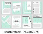 abstract vector layout... | Shutterstock .eps vector #769382275