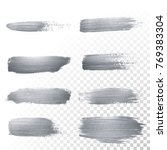 silver glitter paint brush... | Shutterstock .eps vector #769383304