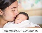 portrait of beautiful young... | Shutterstock . vector #769383445