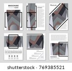 abstract vector layout... | Shutterstock .eps vector #769385521