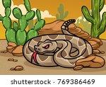cartoon rattle snake    Shutterstock .eps vector #769386469