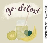 go detox illustration  green... | Shutterstock . vector #769390381