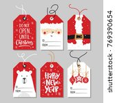 christmas gift tags set with... | Shutterstock .eps vector #769390654