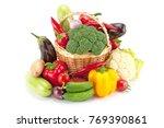fresh and ripe vegetables... | Shutterstock . vector #769390861