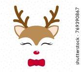 Cute Reindeer. Baby Deer. Merr...