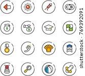 line vector icon set   left...