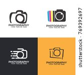 photography logo set vector | Shutterstock .eps vector #769392697