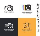 photography logo set vector | Shutterstock .eps vector #769392697