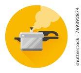 vector pressure cooker with... | Shutterstock .eps vector #769392874