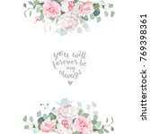 cute wedding floral vector... | Shutterstock .eps vector #769398361