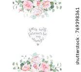 cute wedding floral vector... | Shutterstock .eps vector #769398361