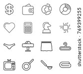 thin line icon set   dollar ... | Shutterstock .eps vector #769399255