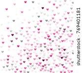 beautiful pink confetti hearts... | Shutterstock .eps vector #769401181