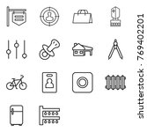 thin line icon set   shop... | Shutterstock .eps vector #769402201