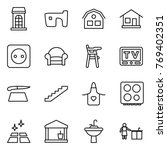 thin line icon set   building ...   Shutterstock .eps vector #769402351