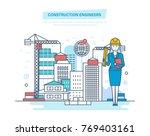construction engineers worker.... | Shutterstock .eps vector #769403161