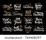 christmas   new year vector set ... | Shutterstock .eps vector #769408297