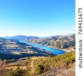 panoramic view of lake lac de... | Shutterstock . vector #769411675