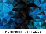 light blue vector polygon... | Shutterstock .eps vector #769412281