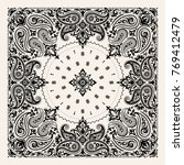 vector ornament paisley bandana ... | Shutterstock .eps vector #769412479