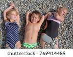 siblings have fun time on the... | Shutterstock . vector #769414489