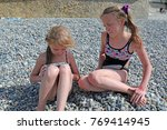 siblings have fun time on the... | Shutterstock . vector #769414945