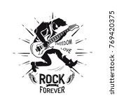 rock forever freedom and love ... | Shutterstock .eps vector #769420375