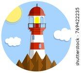 cartoon flat illustration   red ... | Shutterstock .eps vector #769422235