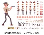 sheriff character creation set. ... | Shutterstock .eps vector #769422421