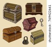 set of chest | Shutterstock .eps vector #769422661