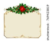 merry christmas greeting card... | Shutterstock .eps vector #769423819