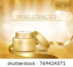 gold jar with open lid is full... | Shutterstock .eps vector #769424371