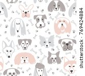 vector seamless pattern with... | Shutterstock .eps vector #769424884