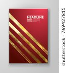 vector red and gold design... | Shutterstock .eps vector #769427815