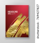 vector red and gold design... | Shutterstock .eps vector #769427827