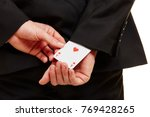 hand from a businessman pulling ... | Shutterstock . vector #769428265