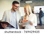 creative business team working...   Shutterstock . vector #769429435
