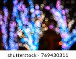 blur colorful bokeh background...   Shutterstock . vector #769430311