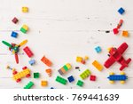 top view on colorful plastic... | Shutterstock . vector #769441639